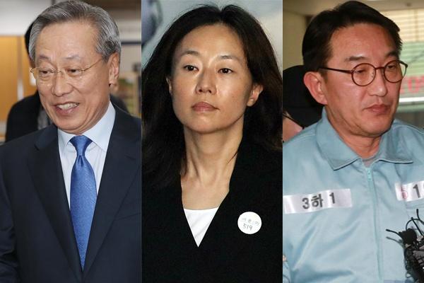 박근혜 정부 청와대에서 정무수석으로 근무한 사람들. 왼쪽부터 박준우, 조윤선, 현기환.