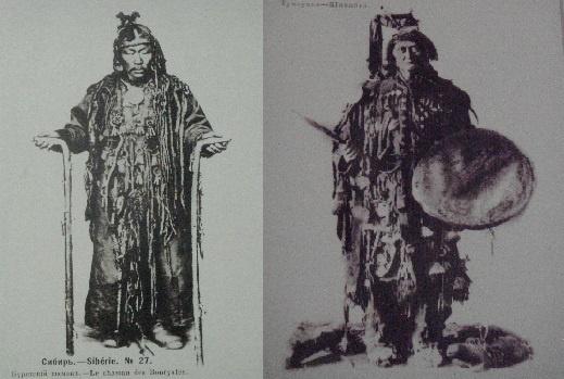 시베리아 이르쿠츠와 울란우데 박물관에 전시된 시베리아 샤먼 무당입니다.