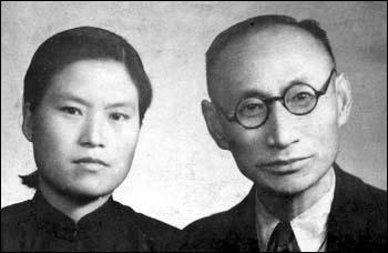 차리석 선생(사진 오른쪽)과 홍매영 지사(왼쪽)의 결혼 사진.