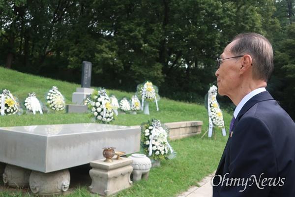 9일 서울 용산구 효창원에서는 동암 차리석 선생의 74주기 추모식이 진행됐다.