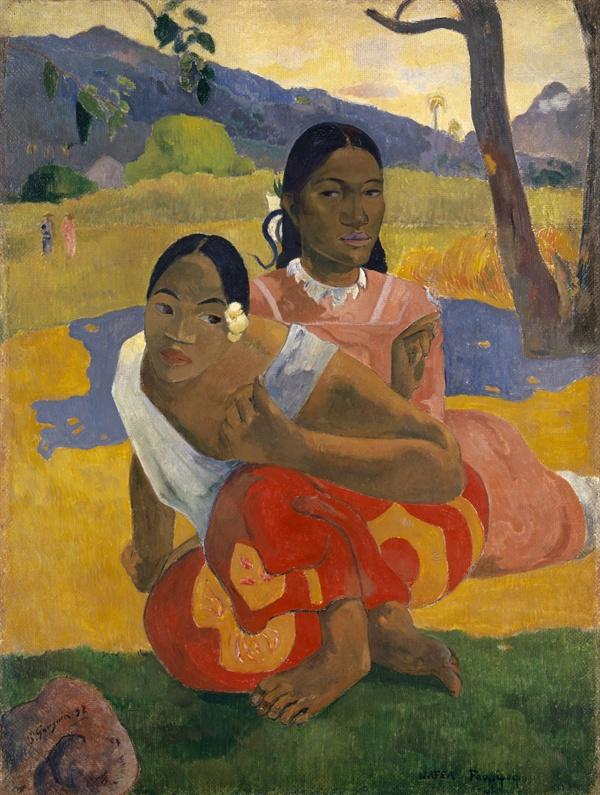 고갱, 「언제 결혼하니」 1892년  스위스 바젤 미술관