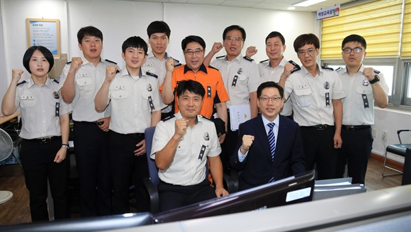 김경수 경남지사는 10일 오후 진주소방서를 찾았다.