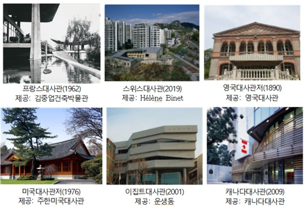 9월 20일부터 29일까지 서울시민에게 개방되는 6개국 주한대사관의 모습