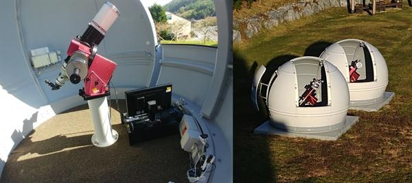 '꼬마보름달' 촬영에 사용된 장비 150mm 굴절망원경, 파라마운트 MEII, 3M Scope Dome
