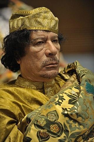 무아마르 알 카다피. 사망 2년 전인 2009년 모습.