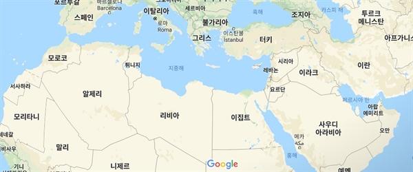 북아프리카와 중동.