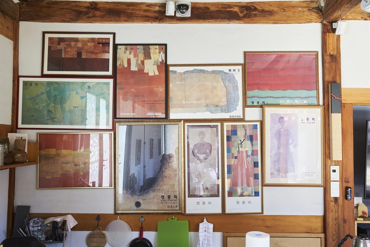 갤러리 페이퍼하우스 속 정종미 화가 작품들