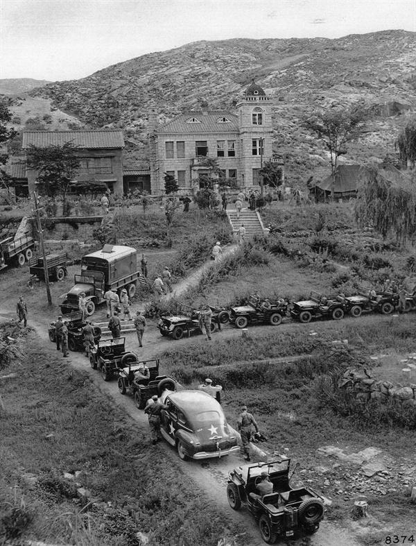 1952. 9. 2. 개성에 있었던 인삼장으로 북한 측이 유엔군 정전회담 대표 휴게소로 제공했다(1952. 9. 2.).