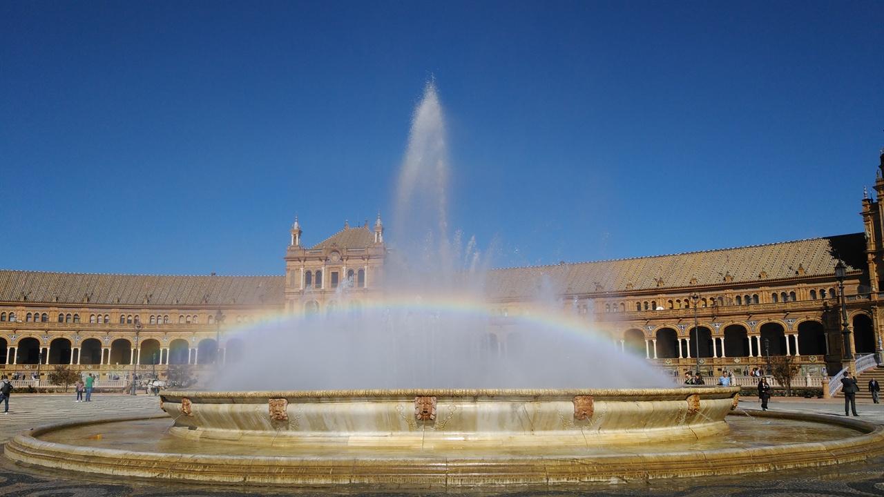 세비야 스페인광장의 분수