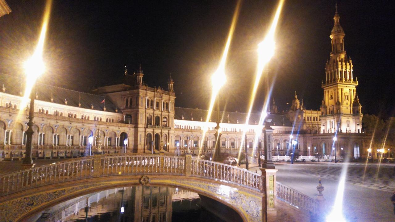 세비야 스페인광장의 야경
