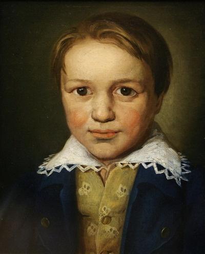 13세의 베토벤 초상화(1783. 작자미상.)