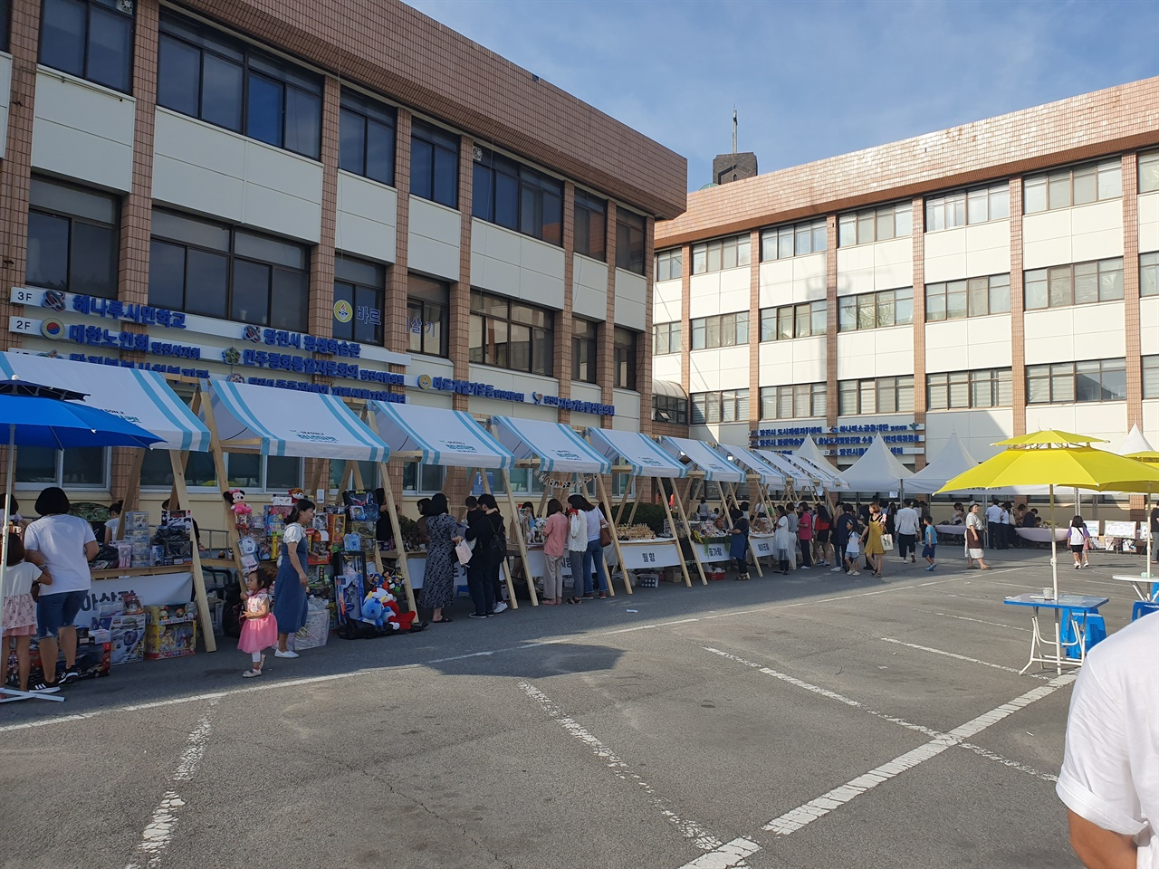 지난달 31일 당진청년마켓 시즌2가 청년센터 나래에서 열린 가운데, 참여자 부족으로 한산한 행사 모습