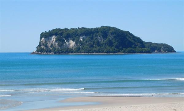 바다와 섬이 멋지게 어울리는 타이루아(Tairua) 해변