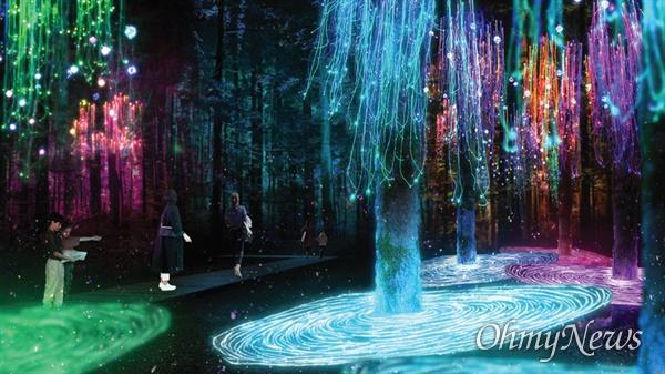 신라를 담은 별(루미나이트워크 코스) 내 몽환의 숲 예상 전경