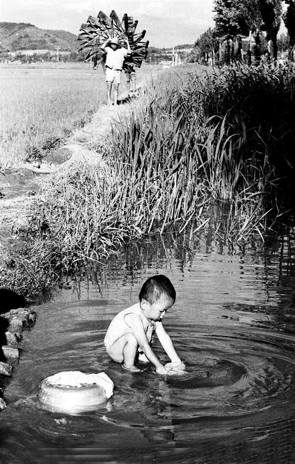 군산 외곽 농촌풍경(1964)