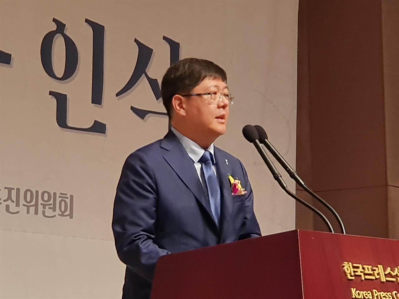 발언하고 있는 김홍걸 민족화해협력범국민협의회 대표상임의장