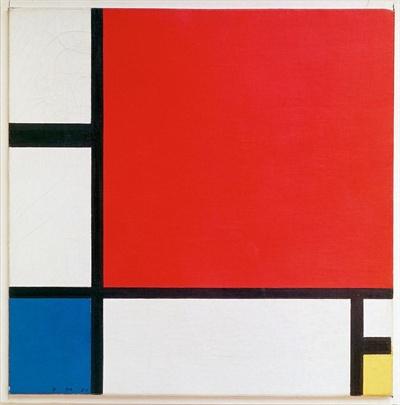 몬드리안의 작품 'Composition II with Red, Blue, and Yellow'