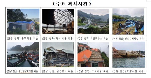태풍 링링 피해 상황