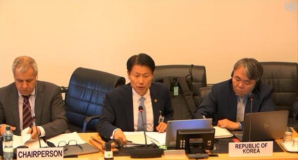 지난 18~19일, 한국대표단이 유엔 본부에서 열린 아동권리위원회 심의에서 답변하고 있다.