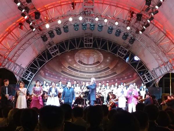9월 21일 열린 '2019 예술의전당 가곡의 밤' 둘째 날 공연의 한 장면.