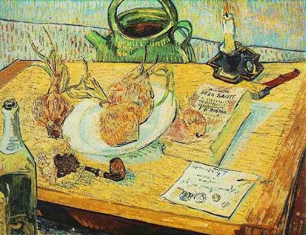 「화판, 파이프, 양파, 봉랍이 있는 정물화」 1889년 크릴러 뮐러 미술관