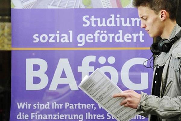 독일의 대학생 학자금 지원 프로그램 'Bafoeg'의 홍보 사진.