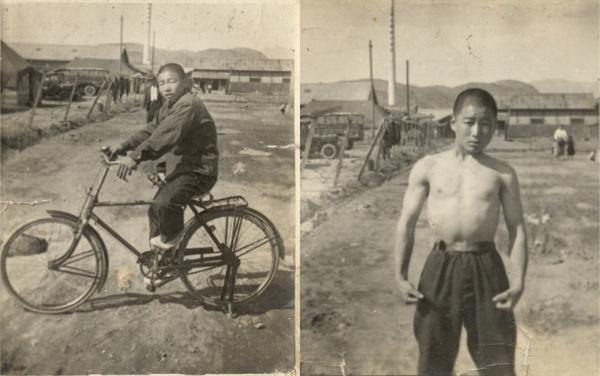 젊은 시절, 자전거 타는 아버지