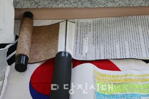 ▲ 다음달 11일까지 송악고에서 프로젝트 전시회가 진행되고 있다.