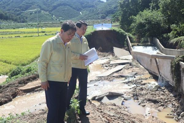 허성무 창원시장은 3일 태풍 피해 현장을 찾아 점검했다.