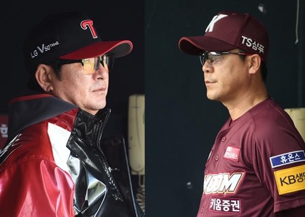 준플레이오프에서 맞붙게 된 LG 류중일 감독과 키움 장정석 감독(사진: LG 트윈스/키움 히어로즈)