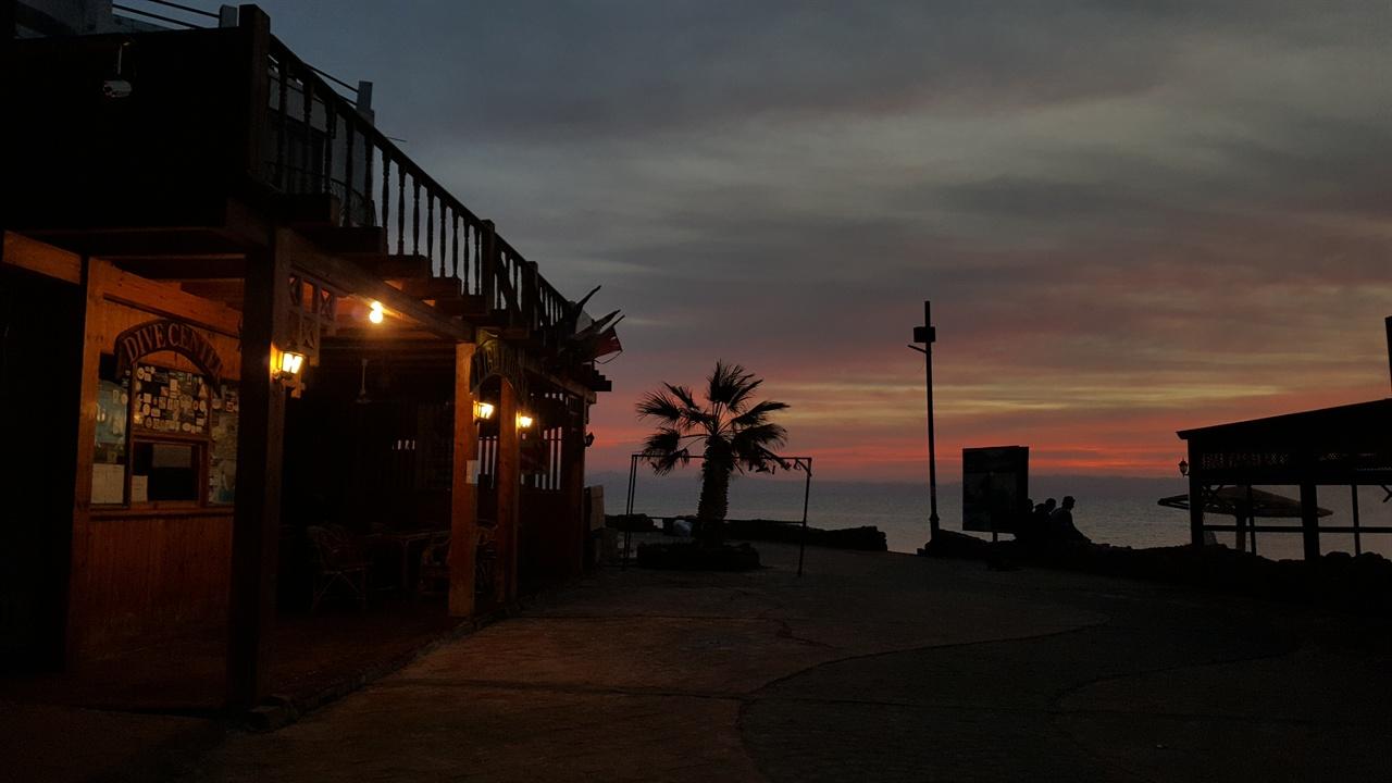 다합의 새벽 풍경