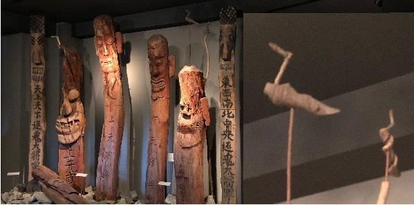 텐리교 산코칸 박물관 입구에 놓인 우리나라 장승과 솟대입니다. 이들은 한때 우리 마을을 지켜주는 수호신이었고, 신앙의 주체이기도 했습니다.