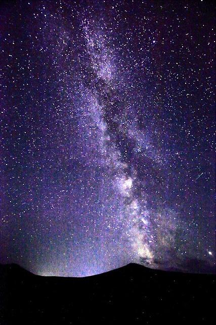 몽골의 밤하늘 모습.
