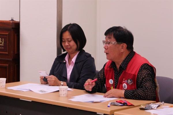 노원주민대회 조직위원회 회의에 참석해 의견을 개진하는 양명수 씨.(오른쪽)