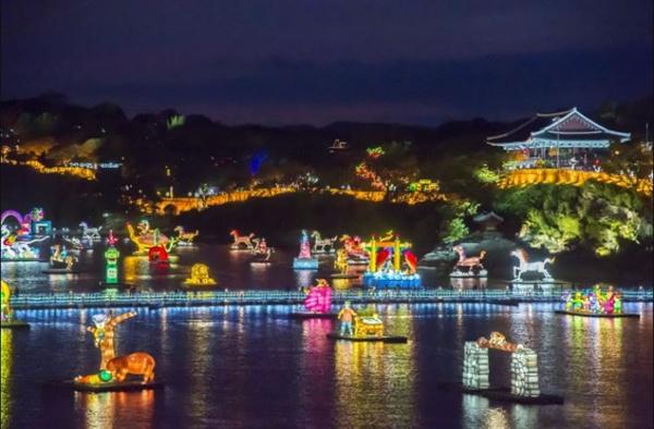진주남강유등축제 전경