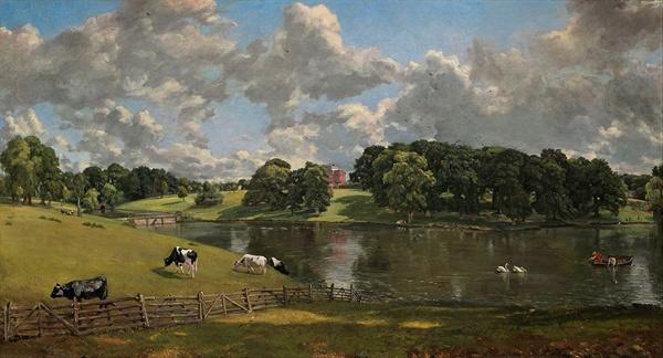 존 컨스터블이 그린 '위벤호 공원(Wivenhoe Park)' (1816)은 우리가 만난 비단강의 풍경과 흡사하지 않은가.