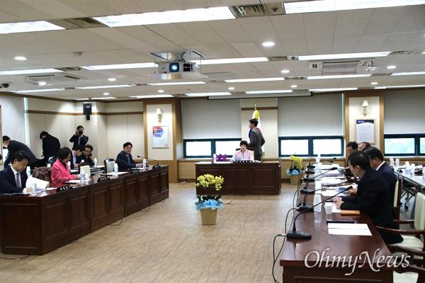 10일 오후 대구지방경찰청에서 열린 국회 행정안전위원회 국감.