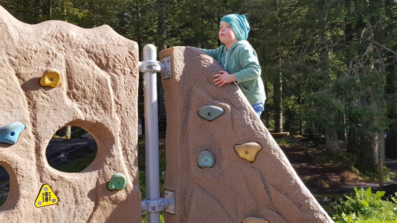 놀이터의 어린이 암장시설