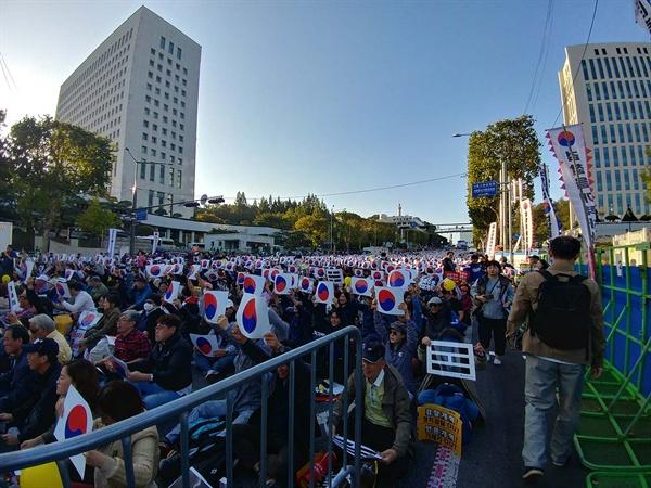 대검찰청 앞 도로의 모습.