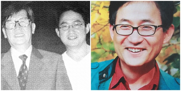 신영복과 이승혁(오른쪽). 두 사람은1988년 처음 만났다.