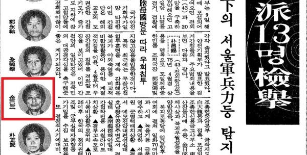 1981년 4월 9일자 <동아일보>에 실린 김기삼 사진.