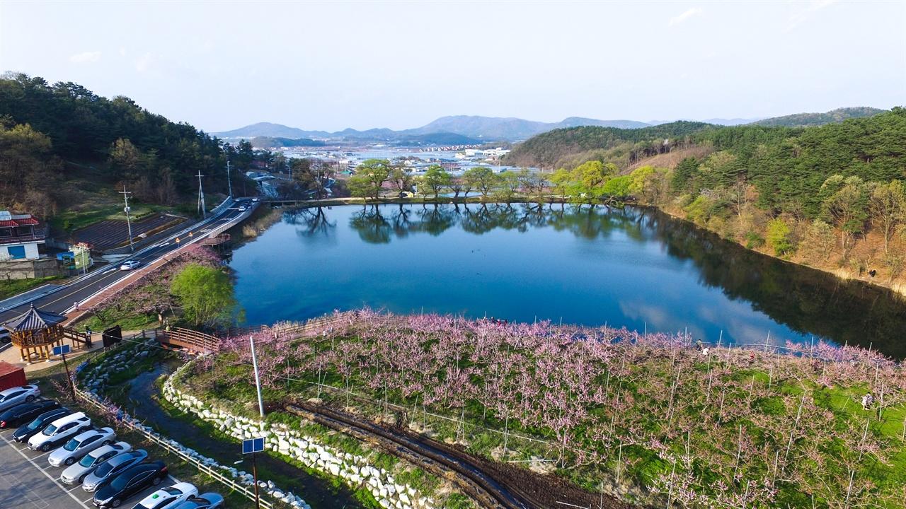 사계절 내내 아름다운 풍광을 보여주는 경산 반곡지.