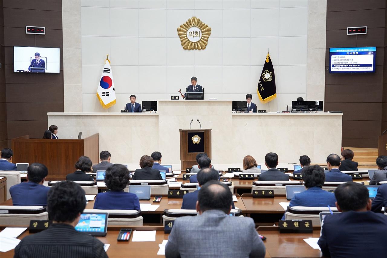 용인시의회, 제237회 임시회 개회 모습