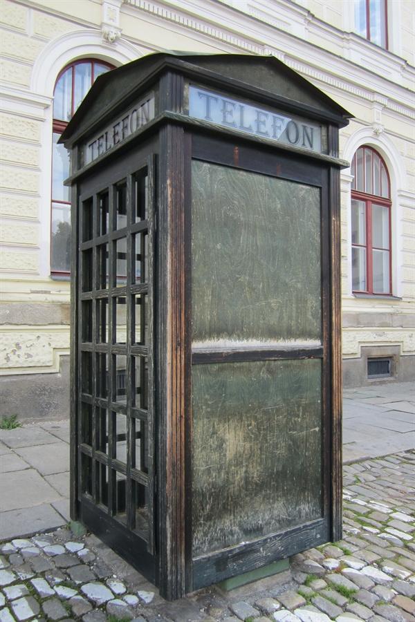 체코 스보르노스티 광장에 있는 공중전화