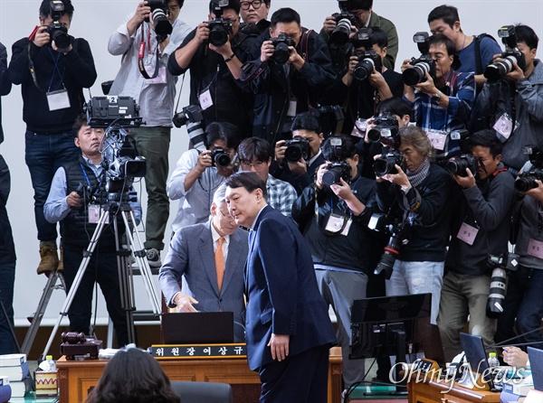 17일 오전 서울 서초구 대검찰청에서 법사위 국정감사가 열리고 있다.
