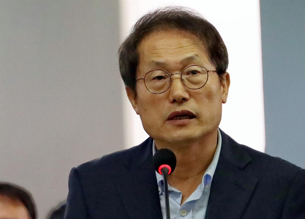 18일 국정감사장에서 답변하는 조희연 서울시교육감.