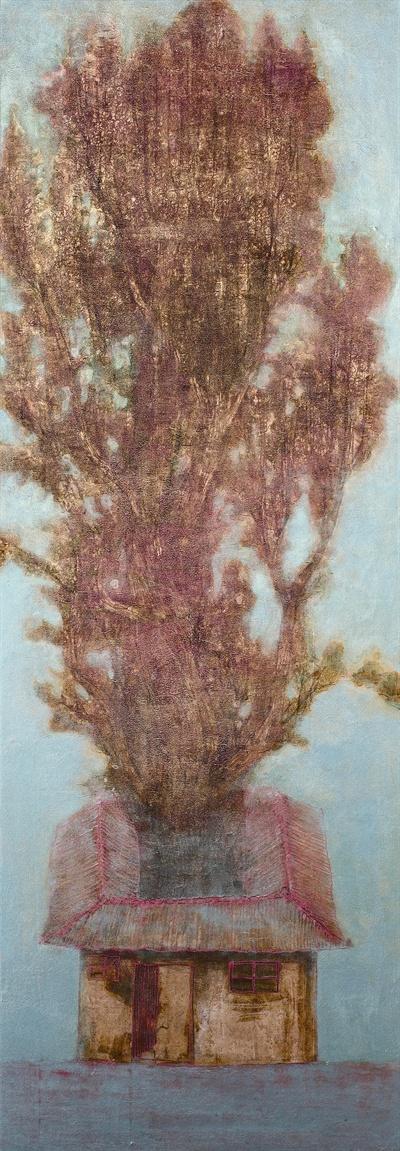김선태 작가의 작품 '나무가 사는 집 2014'