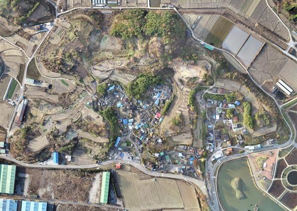 국가사적으로 지정된 '함안 가야리 유적' 전경.