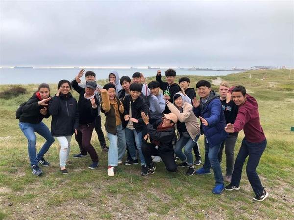 덴마크여행 이동학교 기간중 주말에 친구들과 여행중