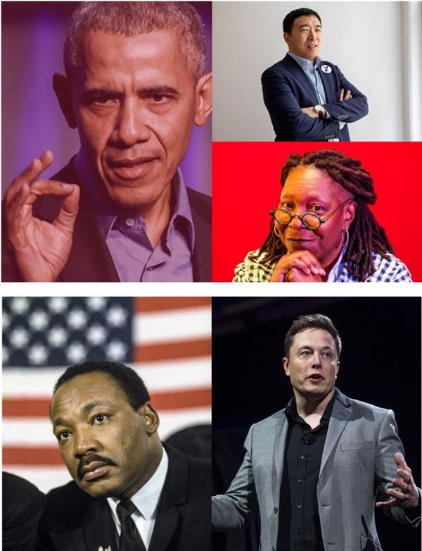 마틴 루터 킹을 비롯하여 테슬라 CEO 엘런 머스크, 버럭 오바마 전 미국 대통령, 유명 영화배우 우피 골드버그, 그리고 최근 미국 대통령 후보로 돌풍을 일으키고 있는 앤드류 양 등 많은 이들이 기본소득을 지지하고 있다.